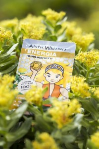 A yellow Arctic Warriors product.