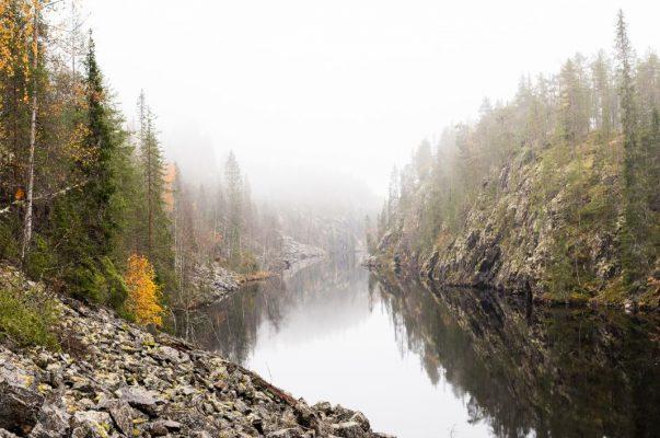 Julma-Ölkky canyon lake.