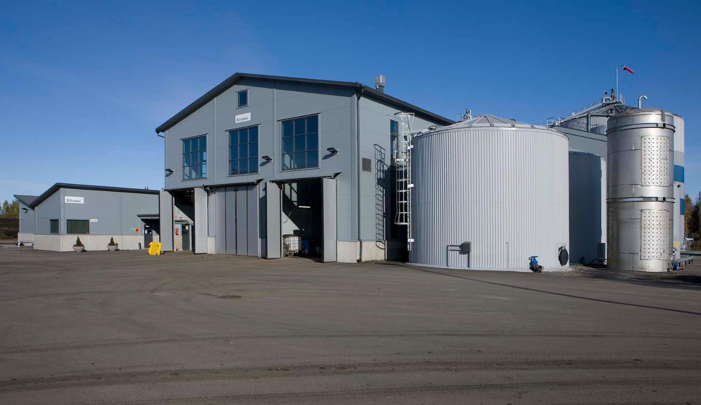 Gasum's biogas facilities.