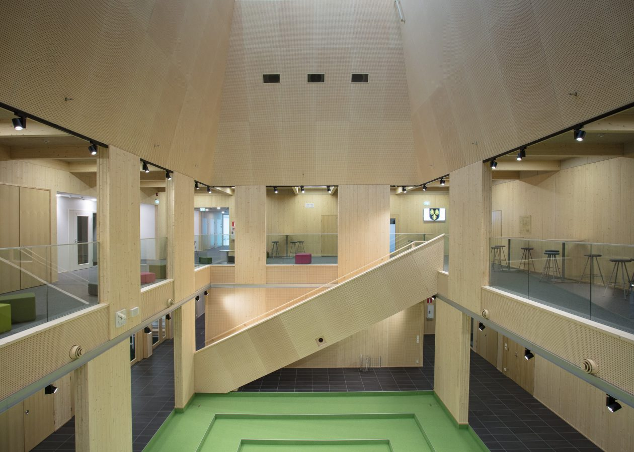 Interior image of Tuupala Wood School.